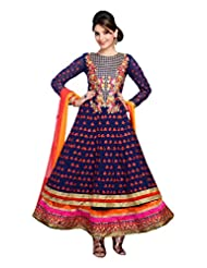 Zohraa Blue Faux Georgette Anarkali Suit - Z1723P505-16