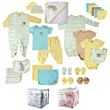 Luvable Friends Unisex-Baby Little Giraffe 24 Piece Gift Cube, Yellow Giraffe, 0-6 Months