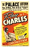 RAY CHARLES THE PALACE REPRODUCTION CONCERT POSTER NO.1 16X12