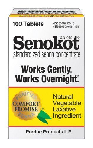 Senokot Natural Vegetable Laxative Ingredient, Tablets, 100 tablets
