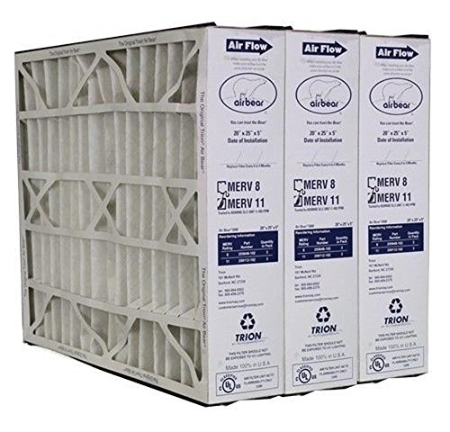Heating, Cooling & Air Trion Air Bear 259112-102 (3 Pack) Pleated Furnace Air Filter 20
