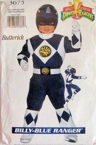 Butte (Power Rangers Costume Pattern)