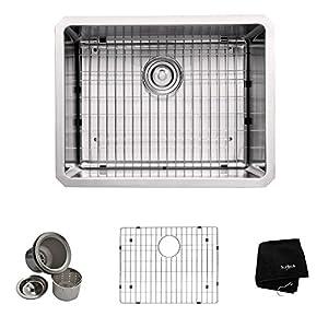 Kraus KHU101-23 23-Inch Undermount Single Bowl 16 gauge Kitchen Sink, Stainless Steel