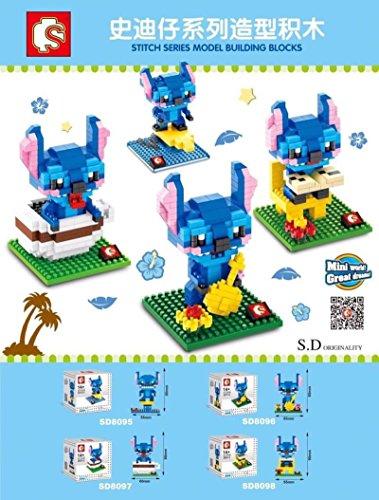 Lilo Stitch Building Blocks Micro Nanoblock 3D diy Figures Toys Lot 4 Sets Party Supplies Disney Gift with Original Box