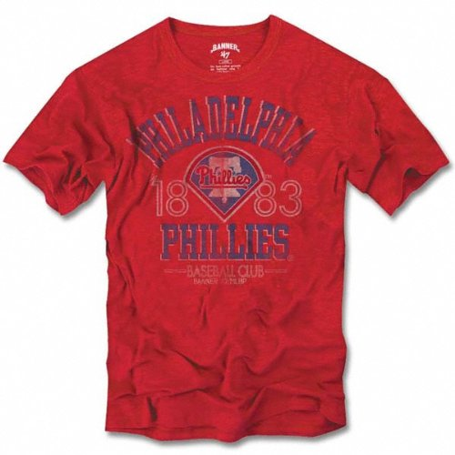 Philadelphia Phillies Red Vintage Scrum T-Shirt