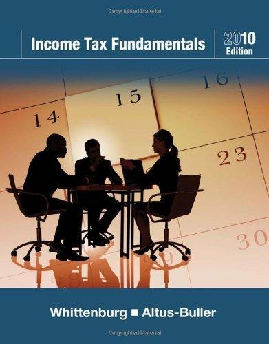 Income Tax Fundamentals 2010 (with TaxCut Tax CD-ROM) [Paperback]
