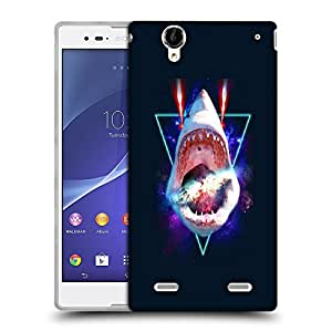 Snoogg Shark Mouth Designer Protective Back Case Cover For SONY XPERIA T2 ULTRA