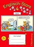 Englisch-Stars - Allgemeine Ausgabe: 4. Schuljahr - Comics: Übungsheft. Mit Lösungen