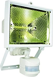 Byron ES400W 400W Halogen Floodlight with Motion Detector - White