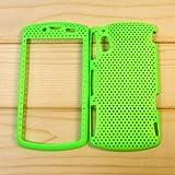 【全10色】Sony Ericsson Xperia Play R800i メッシュケース ハードケース シェルケース グリーン Plastic Case for Xperia Play R800i (1500-1)