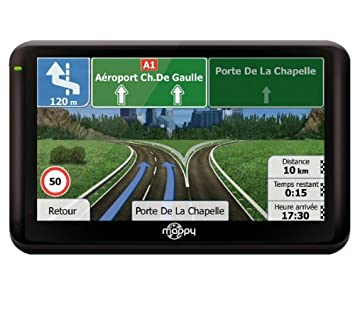 Navigation GPS MAPPY ULTIX555 NOIR EUROPE 43 PAYS CARTE A VIE