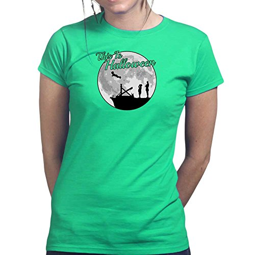 [Womens This is Halloween Addams Funny Ladies T Shirt Top) Large Irish Green] (Lurch Costumes)