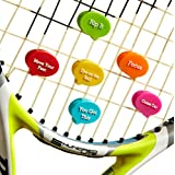 Vibration Dampener (Pack of 6) + Tennis Ball Case + Tips How To Be a Better Player Written by Quarter-finalist of Roland Garros