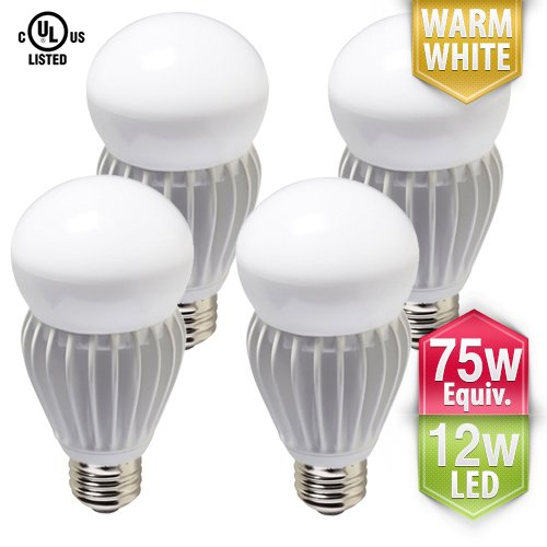 [4-Pack] PacLights 60w to 75w equivalent 12-watt