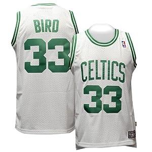 Boston Celtics #33 Larry Bird NBA Soul Swingman Jersey, White by adidas