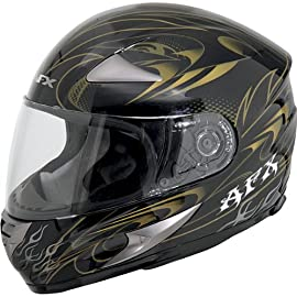 AFX FX90 Full-Face Motorcycle Helmet - Dare Gold Large - 0101-5155