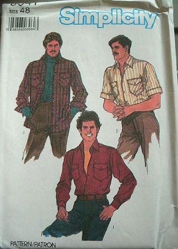 Vintage Mens Shirt Simplicity Sewing Pattern 8541