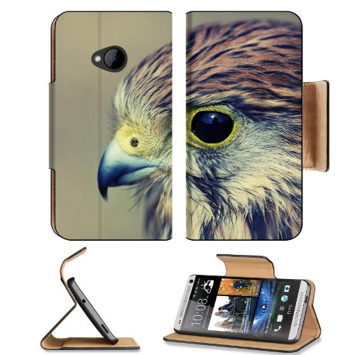 Eagle Baby Hawk Head Beak Predator Htc One M7 Flip Cover Case With Card Holder Customized Made To Order Support Ready Premium Deluxe Pu Leather 5 11/16 Inch (145Mm) X 2 15/16 Inch (75Mm) X 9/16 Inch (14Mm) Liil Htc One Professional Cases Accessories Open front-151288