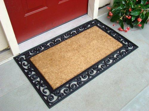 natural coco doormat outdoor welcome front door mat entry. Black Bedroom Furniture Sets. Home Design Ideas