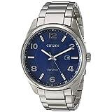 Citizen Men's 'Eco-Drive' Quartz Stainless Steel Casual Watch, Color:Silver-Toned (Model: BM7320-52L)