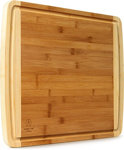 Bamboo Cutting Board with Juice Groove | EXTRA LARGE & WIDE & THICK | Approx. 18