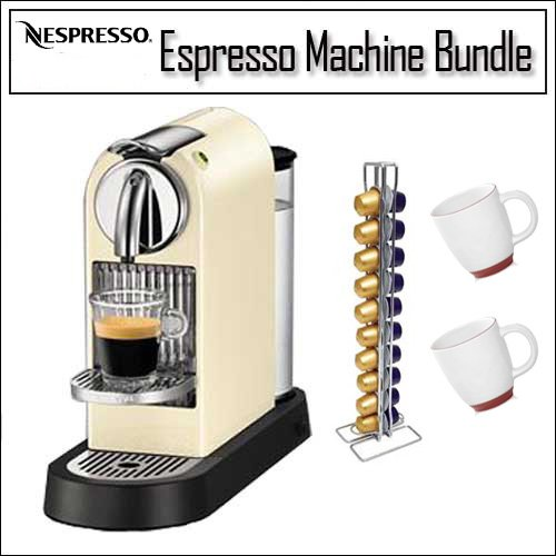 Nespresso D110-US-CW-NE CitiZ Automatic Single-Serve Espresso Maker, 60's White