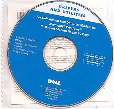 Dell Drivers and Utilities for Reinstalling V.90 Data/Fax Modem for Microsoft Windows (Including Modem Helper by Dell)