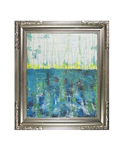 Lisa Carney Mer Tourmantee Framed Giclée On Canvas