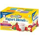 Gerber Graduates Yogurt Blends Snack Variety Pack (12 Pack)