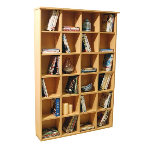 PIGEON HOLE - CD DVD Blu-ray Media Storage Shelves - Beech Black Friday & Cyber Monday 2014