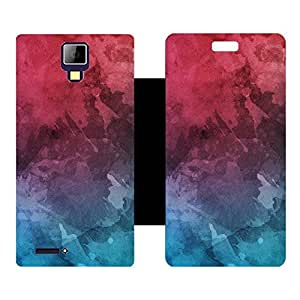 Skintice Designer Flip Cover with hi-res printed Vinyl sticker wrap-around for Micromax Canvas Xpress A99