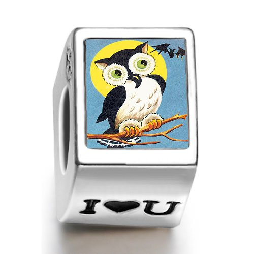 Soufeel Retro-Eule Halloween bat photo I Love U europ?ischen Bead