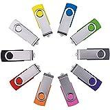 Enfain USB Key Flash Drive Memory Stick 8GB - Multi Color Assorted 10 Pack (8GB, Mix)