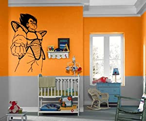 Vegeta dragon ball z cartoon anime manga for Decoration murale dragon ball