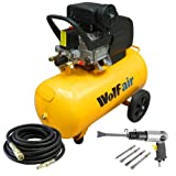 Wolf Sioux 50, 2.5HP, 9.5CFM, 230V, MWP: 116psi, 50 Litre Air Compressor + BUY NOW AND GET A POWERPLUS AIR CHISEL + 10M AIR HOSE
