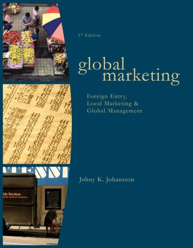 Global Marketing: Foreign Entry, Local Marketing, and...