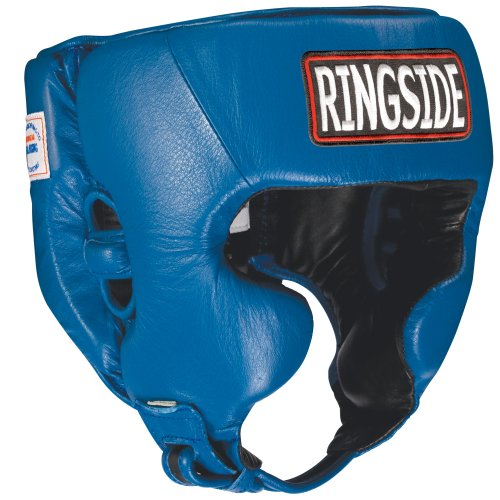 Ringside Competition Boxing Headgear with Cheeks (Blue, X-Large)