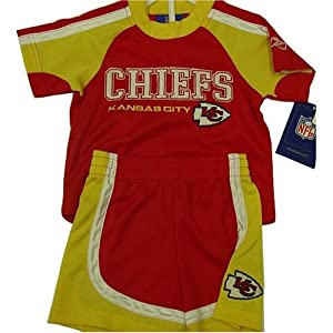 Kansas City Chiefs REEBOK NFL Child Kid 2 Piece Embroidered Short Set (Size 7) by Reebok