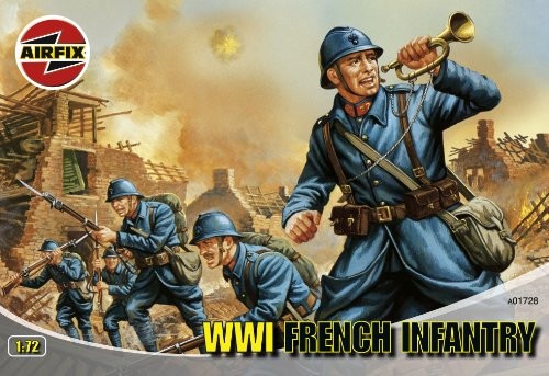 Airfix A01728 1:72 Scale WWI French Infantry Figures Classic Kit Series 1 - 1