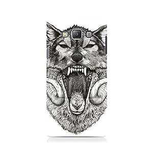Mobicture Wolf Premium Designer Mobile Back Case Cover For Samsung On 5
