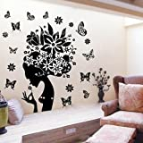 Flower Fairy DIY Removable Art Vinyl Quote Wall Sticker Decal Mural Home Room D¨¦cor