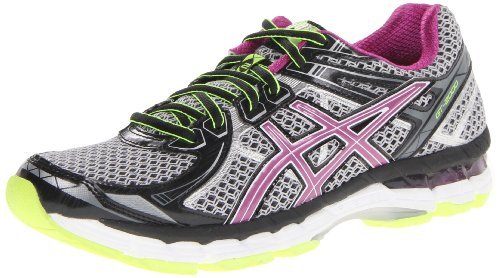 ASICS Women's GT 2000 2 Running Shoe,Black/Orchid/Flash Yellow,8 M US