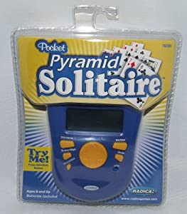 Radica Pocket Pyramid Solitaire Handheld Game