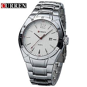 CURREN Fashion Men's Stainless Steel Strap Analog Display Date Quartz Watch 8103G