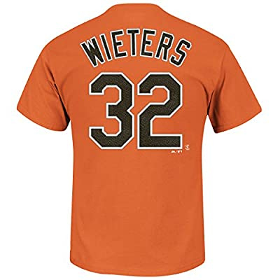 Matt Wieters #32 Baltimore Orioles MLB Men's Name and Number T-Shirt Orange