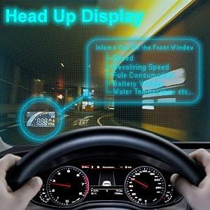 フロントガラスにスピードメーターを投影!