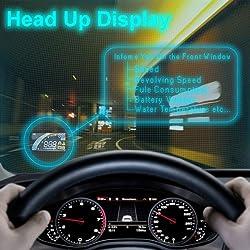 ヘッドアップディスプレイ フロントガラスにスピードメーターを投影!