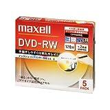 Amazon.co.jpmaxell 録画用 DVD-RW 120分 2倍速対応 インクジェットプリンタ対応ホワイト(ワイド印刷) 5枚 5mmケース入 DW120PLWP.5S