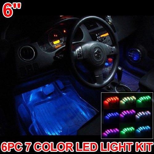 Carchet kit 6 barra led neon 7 colori da interno tuning auto 6 luci e barre al neon - Colori da interno ...