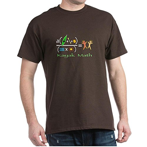 CafePress Kayak Math Dark T-Shirt - L Brown